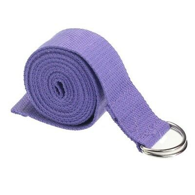 (Purple) - Eforstore 180cm Cotton Yoga Strap Stretching Band Rope Fitness Belt