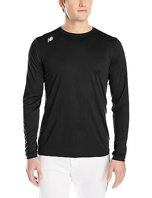 (Medium, Team black) - New Balance Mens Nb Long sleeve Tech Tee. Free Delivery