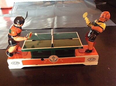 Tin Plate Playing Ping Pong Retro Toy