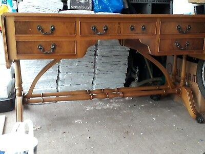 vintage double sided captains table desk for tlc or upcycle