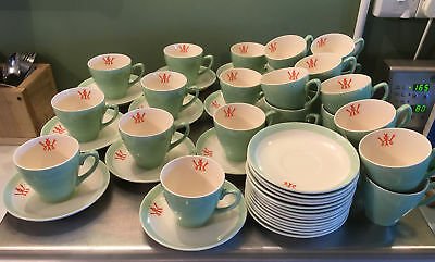 Womens Institute (WI) Cups and saucers x 24 Biltons Staffordshire