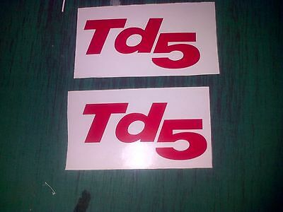 3  TD5 Sticker  Decal Land Rover Defender Resto Sticker Non OEM