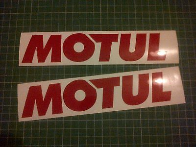 Motul Oil 2 100mm Sponsor Decal Sticker All Colours Motogp Superbike