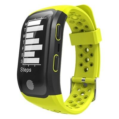 (Yellow) - Fitness Activity Tracker,Gentman S908 Sport Smart Wristband Heart