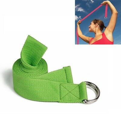 (Green) - Yoga Stretch Cotton Band Strap for Home, Workout, Sports, Fitness