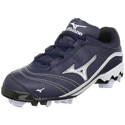 (5 B(M) US, Navy/White) - Mizuno Women's 9-Spike Watley G3 Switch Softball Cleat