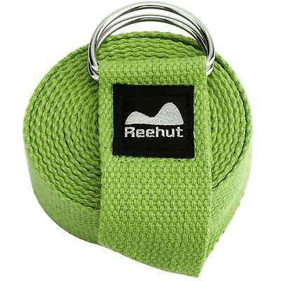 (2.4m, Army Green) - Reehut Fitness Exercise Yoga Strap (1.8m, 2.4m, 3m) w/