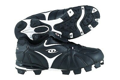 (10.5, Black/White) - ACACIA RBI-Low Baseball/Softball Shoes. Free Delivery