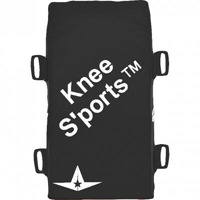 (Black) - All-Star Adult Catcher's Knee Savers. Shipping Included