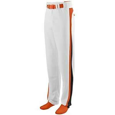 (Adult 3XL, White Pants with Orange/Black Piping) - Travel Ball/All-Star/High