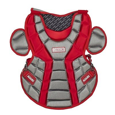 (Scarlet) - Adams ACP-13 Youth Chest Protector with Detachable Tail (33cm )