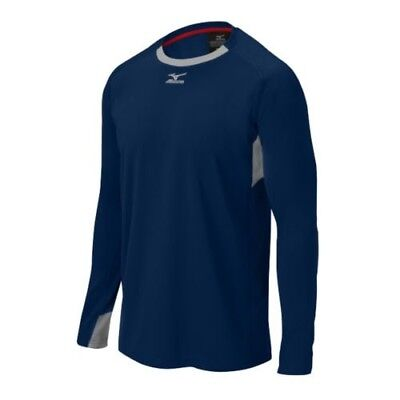 (Small, Navy/Grey) - Mizuno Elite Training Top. Shipping Included
