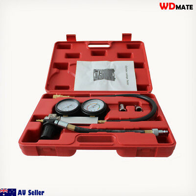 Leakage Tester Engine Leakdown Cylinder Kit Vacuum Fuel Oil Pump Garage H4049004