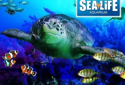 Sea life tickets 2x any day,any town