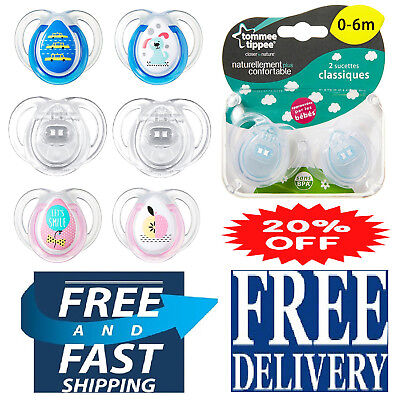 Tommee Tippee Any Time Newborn Baby Soothers Dummies Pacifiers Assorted 2 Pack