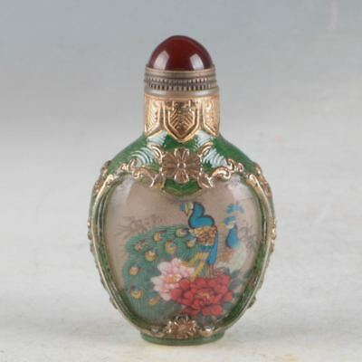 China Cloisonne Handwork Carved Snuff Bottle Made During Of QianLong PeriodDY631