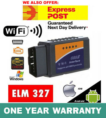 ELM327 OBDII OBD2 WiFi Car Engine Diagnostic Code Reader Scan iPhone Android New