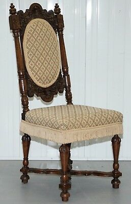 Early Circa 1600's William And Mary High Back Occasional Chair Lovely Old Repair