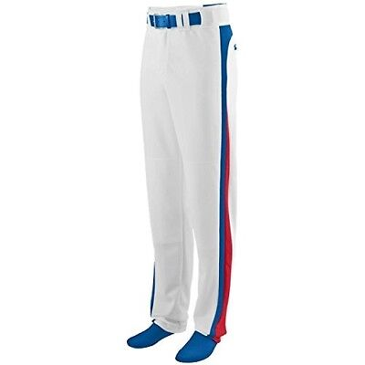 (Adult 2XL, White Pants with Royal/Red Piping) - Travel Ball/All-Star/High