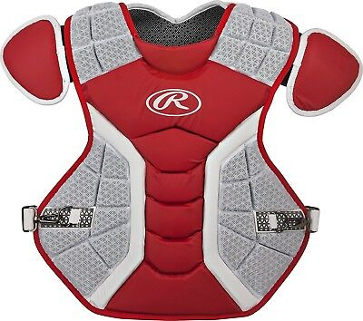 (39cm , Matte Scarlet) - Rawlings Pro Preferred Series Chest Protector