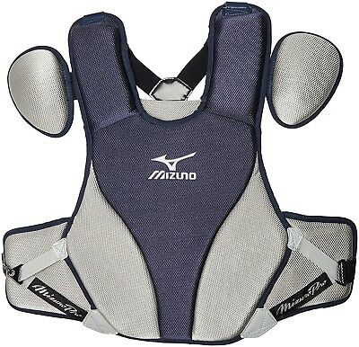 (41cm , Grey) - Mizuno Mens Pro 41cm Chest Protector G2. Shipping is Free