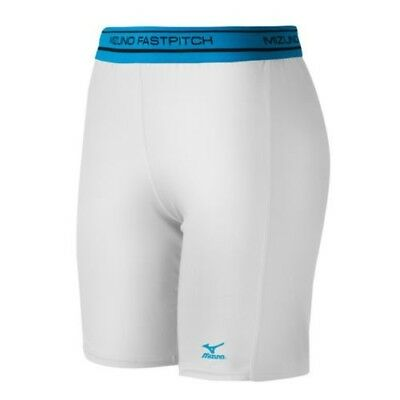 (XX-Small, White) - Mizuno Low Rise Compression Sliding Shorts. Unbranded