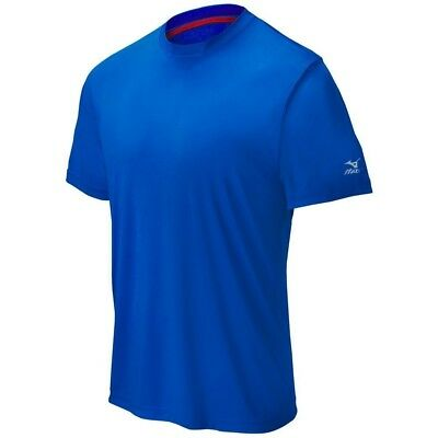(X-Large, Royal) - Mizuno Comp Short Sleeve Crew Top. Unbranded