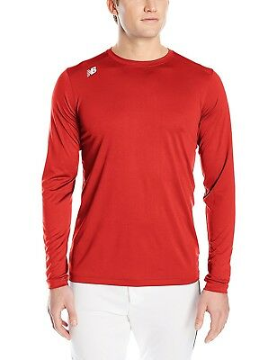 (Medium, Sedona Red) - New Balance Mens Nb Long sleeve Tech Tee. Free Delivery