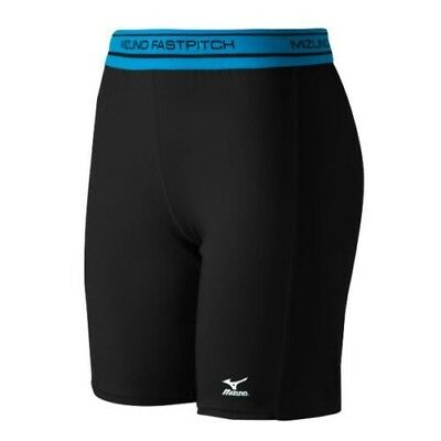 (X-Small, Black) - Mizuno Low Rise Compression Sliding Shorts. Unbranded