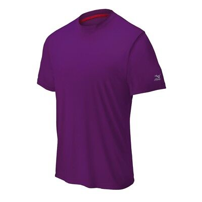 (Large, Purple) - Mizuno Comp Short Sleeve Crew Top. Unbranded. Free Shipping