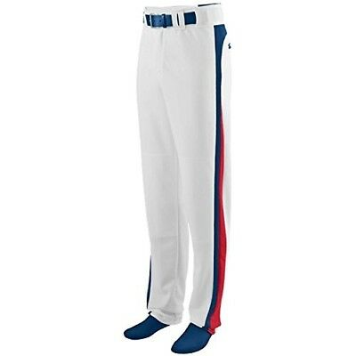 (Adult 3XL, White Pants with Navy/Red Piping) - Travel Ball/All-Star/High