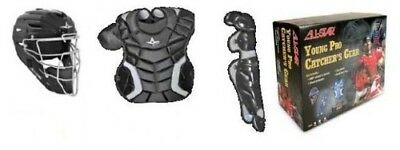 (Scarlet) - All-Star System Seven Youth Baseball Catcher's Set w/Bag. Best Price