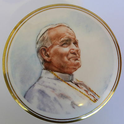 1982 Vintage SPODE English Bone China POPE JOHN PAUL 11 Box Dish 21 PAPAL VISIT