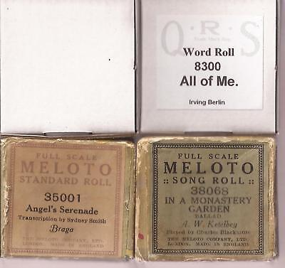 Pianola Rolls x4 QRS The Stripper + All of Me + two song rolls