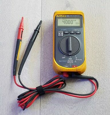 Fluke 705 Loop Calibrator with leads - Fully Working