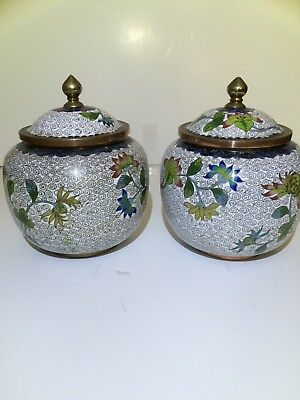 A Good Pair of Cloisonne Jars, Early republic period, marked China