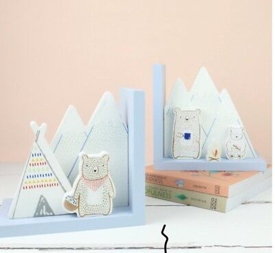 sass and belle Bear Bookends Scandi Nursery