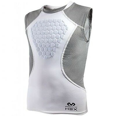 (Small, YOUTH) - McDavid Hex Sternum Shirt, White/Grey. Shipping is Free