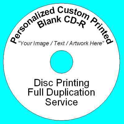 2500x Personalized Custom Printed CD-R Disc Printing Duplication Image Art Audio