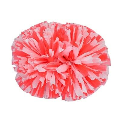 (Red/White) - Cheerleader Cheerleading PomPoms Party Costume Accessory Set