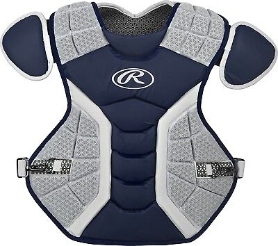 (43cm , Matte Navy) - Rawlings Pro Preferred Series Chest Protector