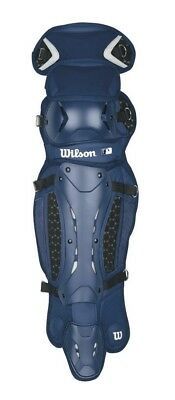 Wilson Promotion Baseball Leg Guards with Isoblox, Navy, Adult. Delivery is Free
