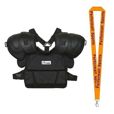 Champion Sports Bundle: Low Rebound Foam Professional Umpire Chest Protector