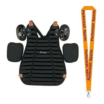 Champion Sports Bundle: Inside Body Umpire Chest Protector Black + 1