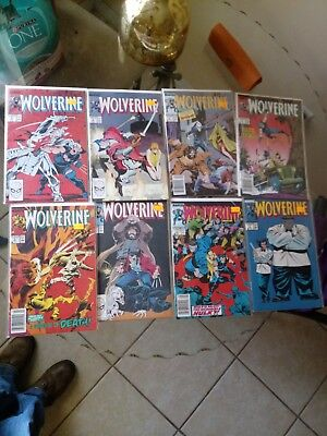 Wolverine comic lot volume 2. Issues 2-8. All nm condition.