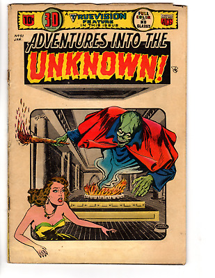 Adventures Into The Unknown # 51 (VG 4.0) 1953 GGA 3D Effect Cover, ACG Horror