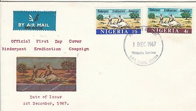 L 312 Nigeria Rinderpest Eradication Dec 1967 First Day Cover