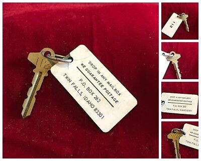Vintage Hotel Key and Fob Unknown Hotel Twin Falls Idaho Room 112