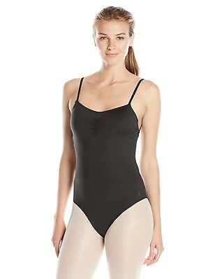 (Large, Rich Black) - Danskin Women's Lattice Back Camisole Leotard
