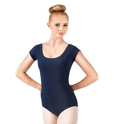 (Petite, Buttercup) - Mirella Women's Cap Sleeve Comfort Cotton Lycra Leotard